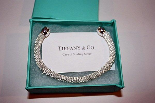 200X: Sterling silver Tiffany Cuff bracelet