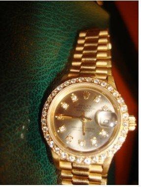 500S: Ladies 18k Presidental Diamond Dial Rolex