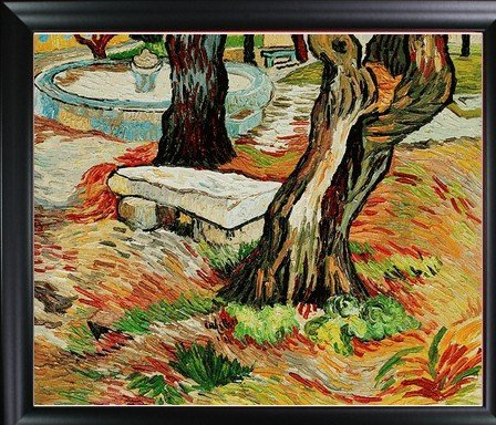 1P: Van Gogh - The Bench at Saint Remy