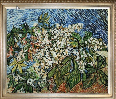 4P: Van Gogh - Blossoming Chestnut Branches Oil Paintin