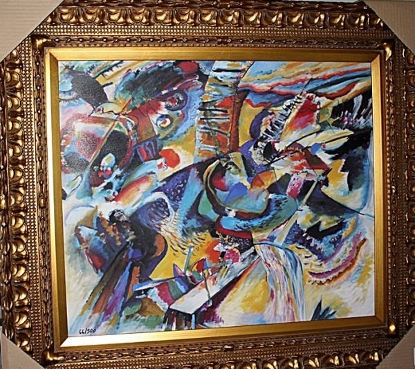 """1B: """"Improvisation Gorge"""" by Kandinsky"""