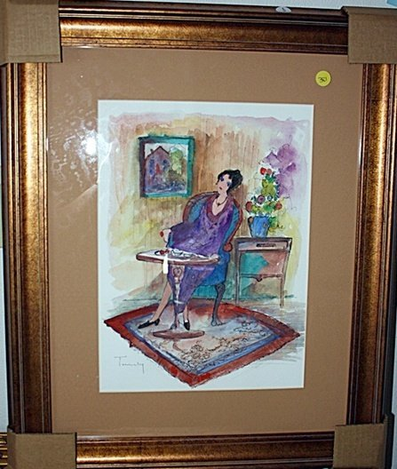 2L: Original Tarkay Watercolor