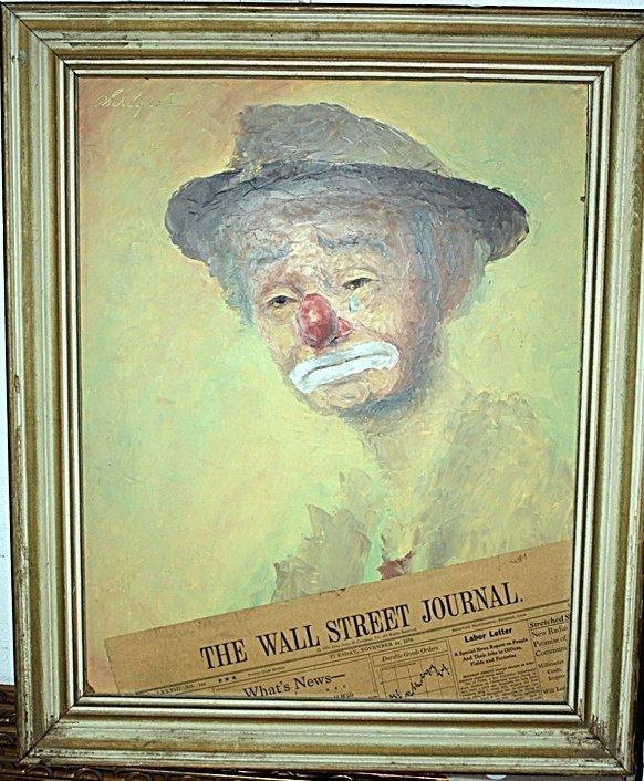 3L: Arno Schlegel Clown Painting
