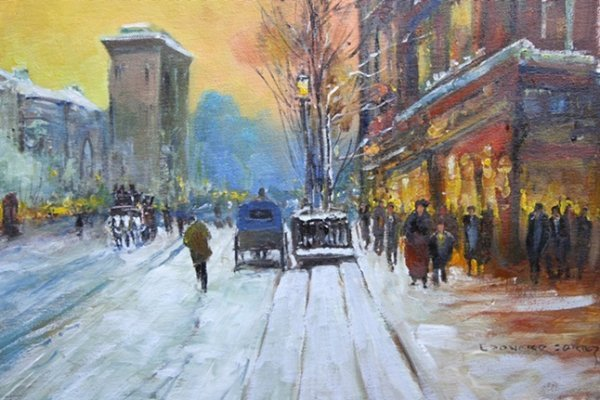 8Z: Edouard Cortes - Signed oil on canvas