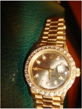485: Ladies Presidental Diamond Dial Rolex