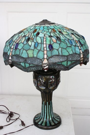 5: Blue Dragonfly Tiffany Style Table Lamp