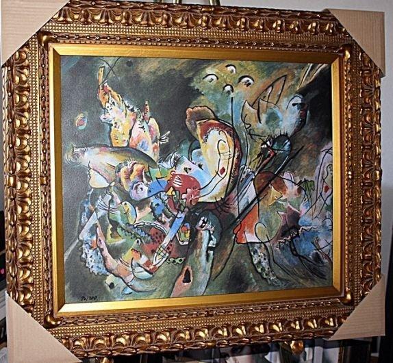 """4B: """"Overcast"""" Kandinsky - Giclee on canvas"""