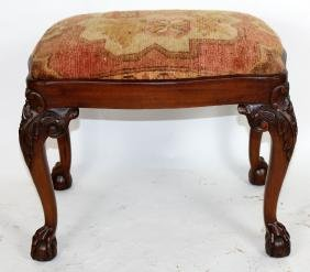 Chippendale style mahogany foot stool