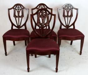 Set of 4 Berhardt mahogany chairs