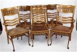 Set of 6 American RJ Horner oak chairs