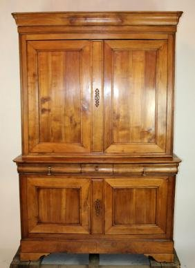 French Louis Philippe buffet deux corps in cherry