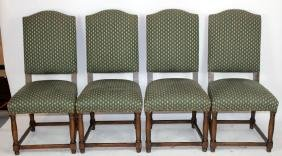 Set of 4 French Louis XIV style chairs