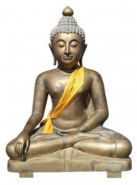 Giant (Almost 10'h) bronze sculpture of Thai Buddha