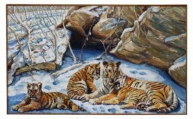 Grand scale Tiger oil on canvas