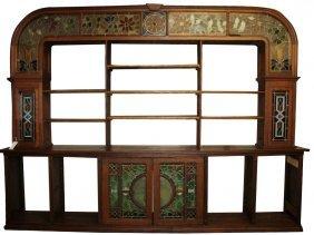 American oak Arts and Crafts back bar