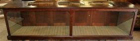 American mahogany display case