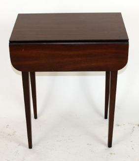 Mahogany drop side table