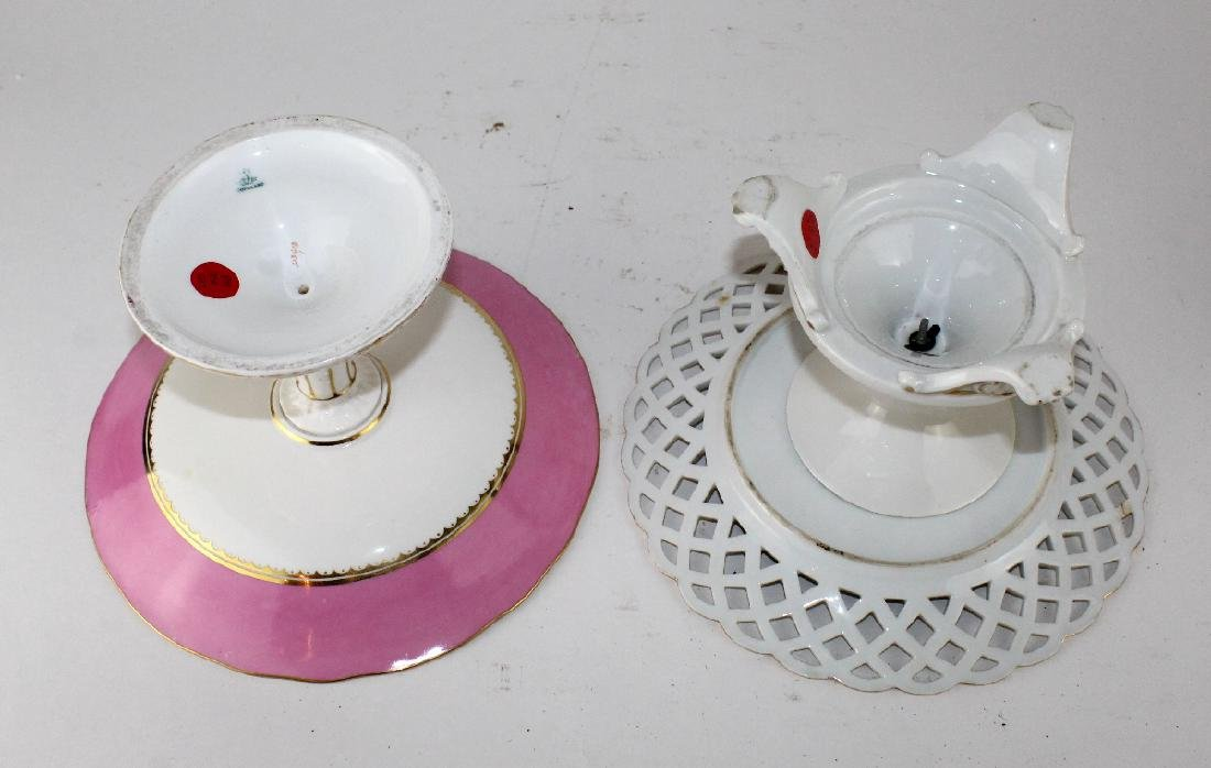 Lot of 2 English porcelain compotes - 2