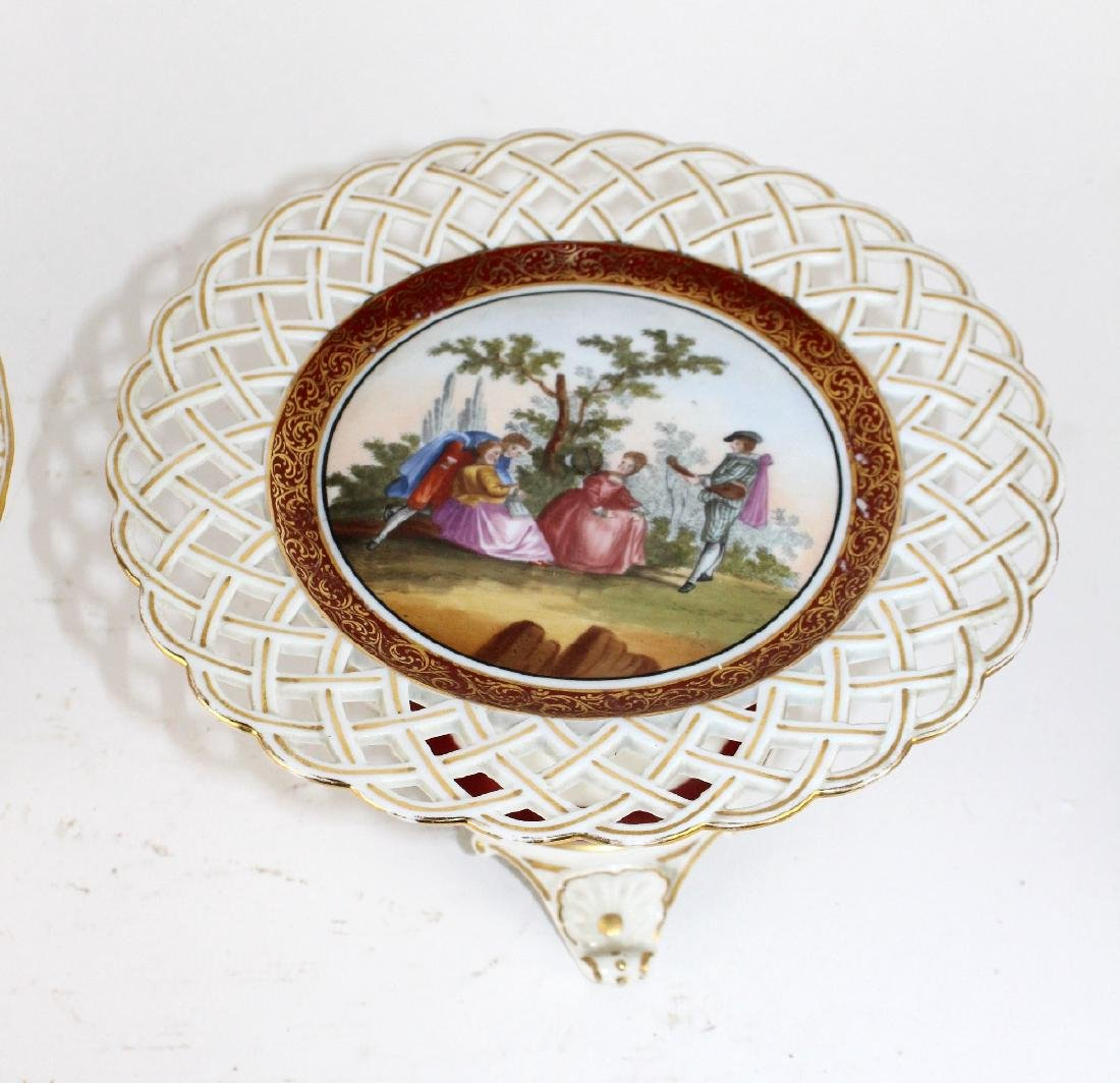 Lot of 2 English porcelain compotes - 4