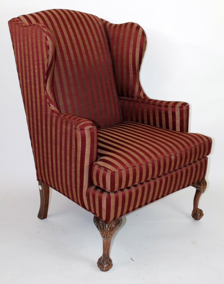Knob Creek upholstered wing back chair
