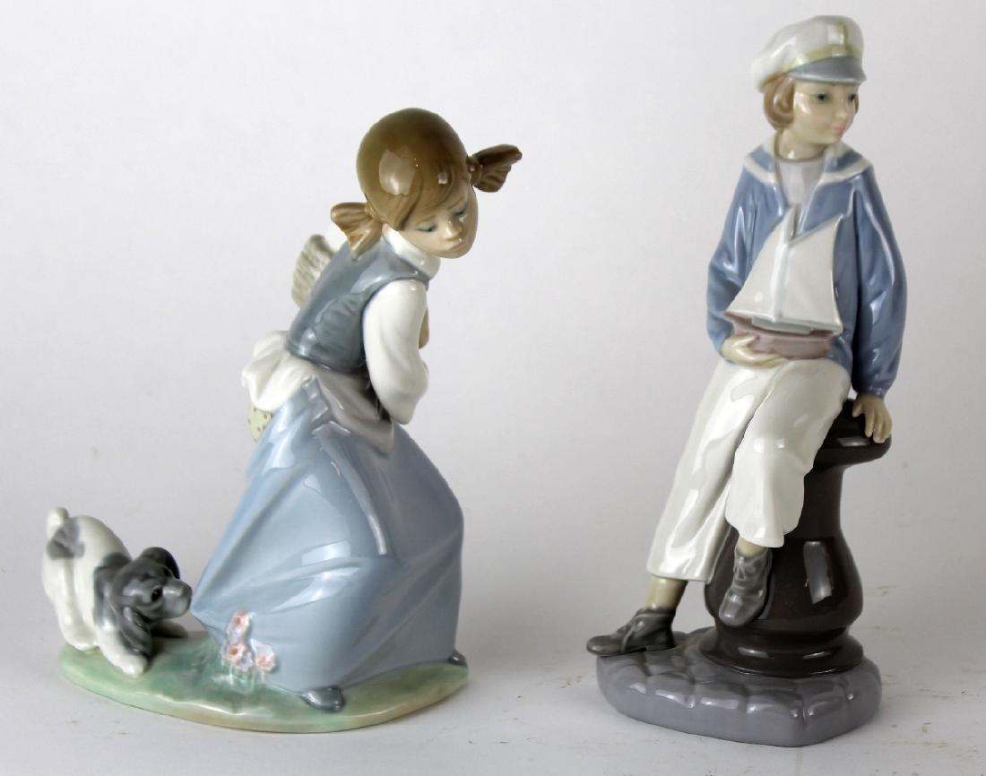 Lot of 2 Lladro porcelain figurines