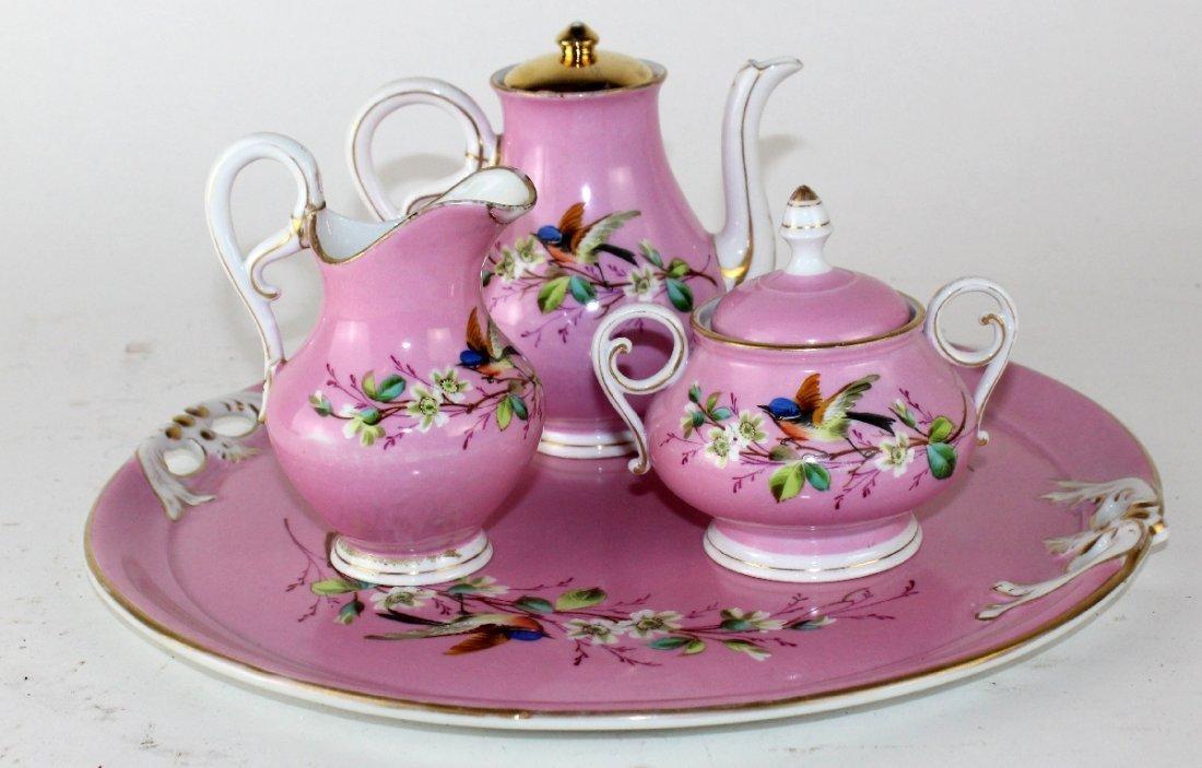 Floral porcelain tea  set