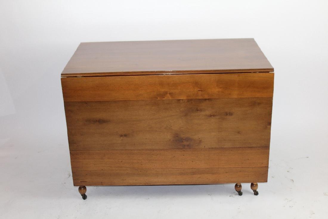 American mahogany drop side table