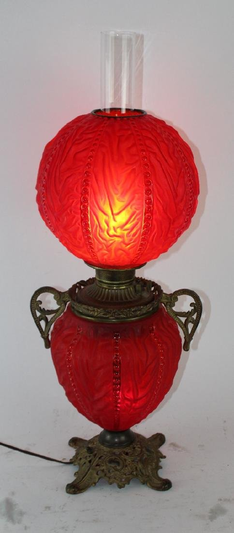 Victorian Gone with the Wind lamp - 2