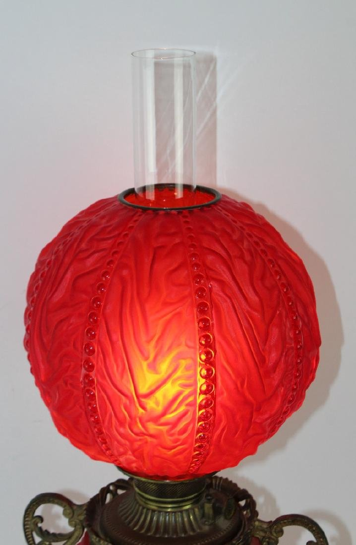 Victorian Gone with the Wind lamp - 4