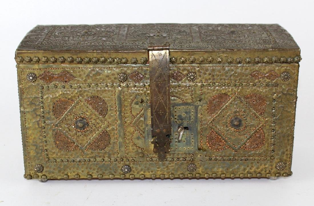 French hammered brass dresser box