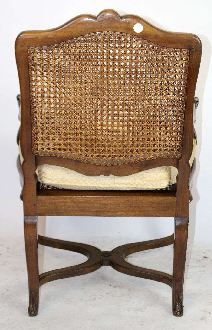 French Louis XV style cane armchair - 2