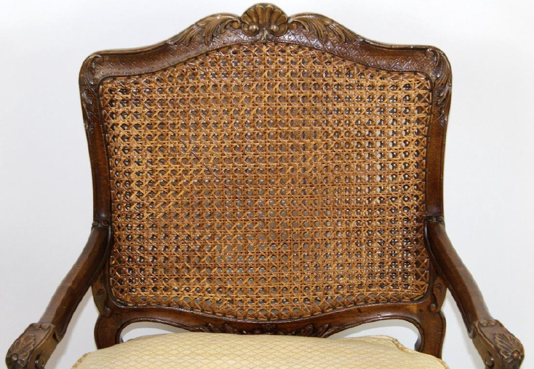 French Louis XV style cane armchair - 3