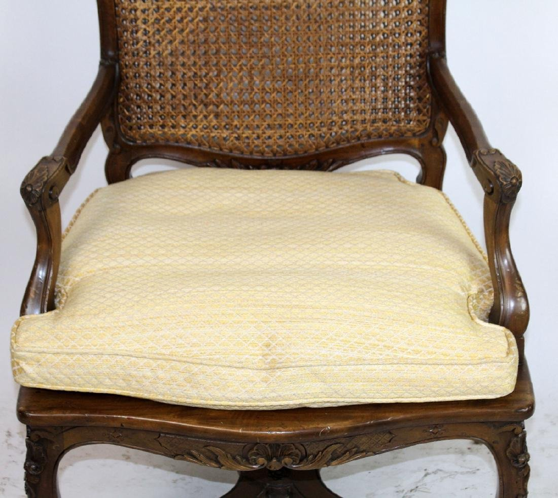French Louis XV style cane armchair - 4