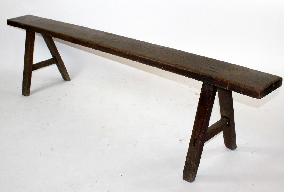 Pair of French backless benches - 5