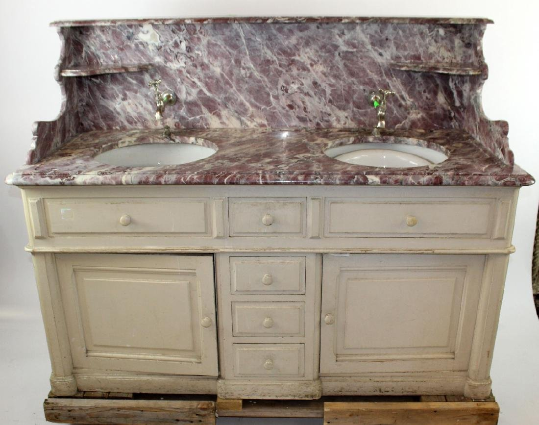 French painted double lavabo - 3