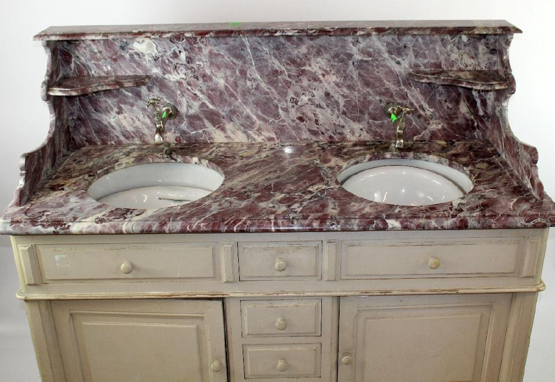 French painted double lavabo - 4