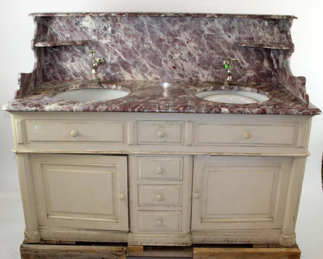 French painted double lavabo - 5