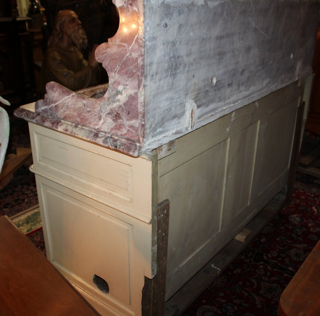 French painted double lavabo - 6