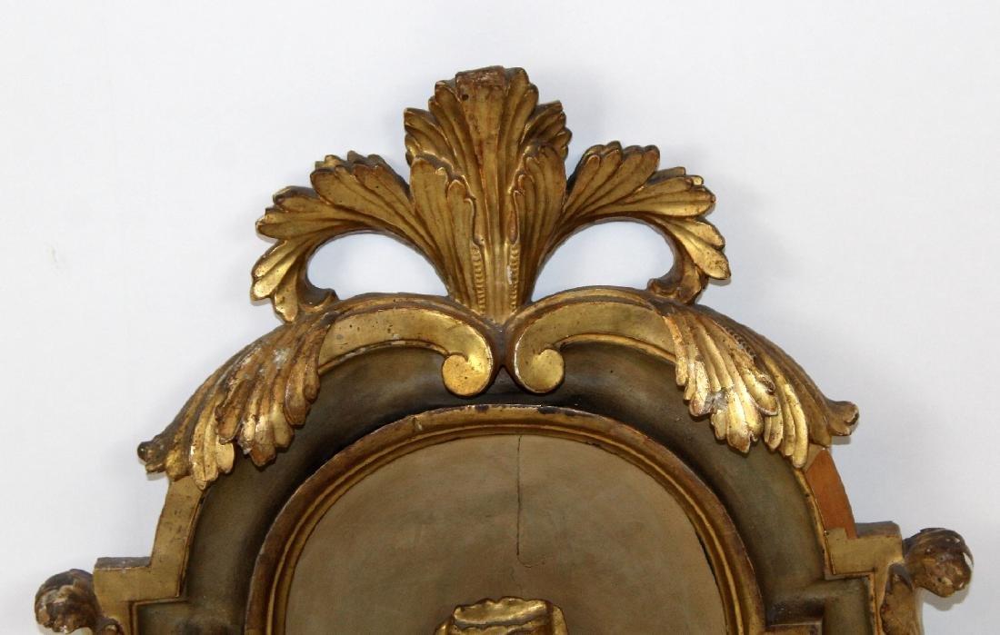 Pair of antique Italian gilt wood fragments - 4