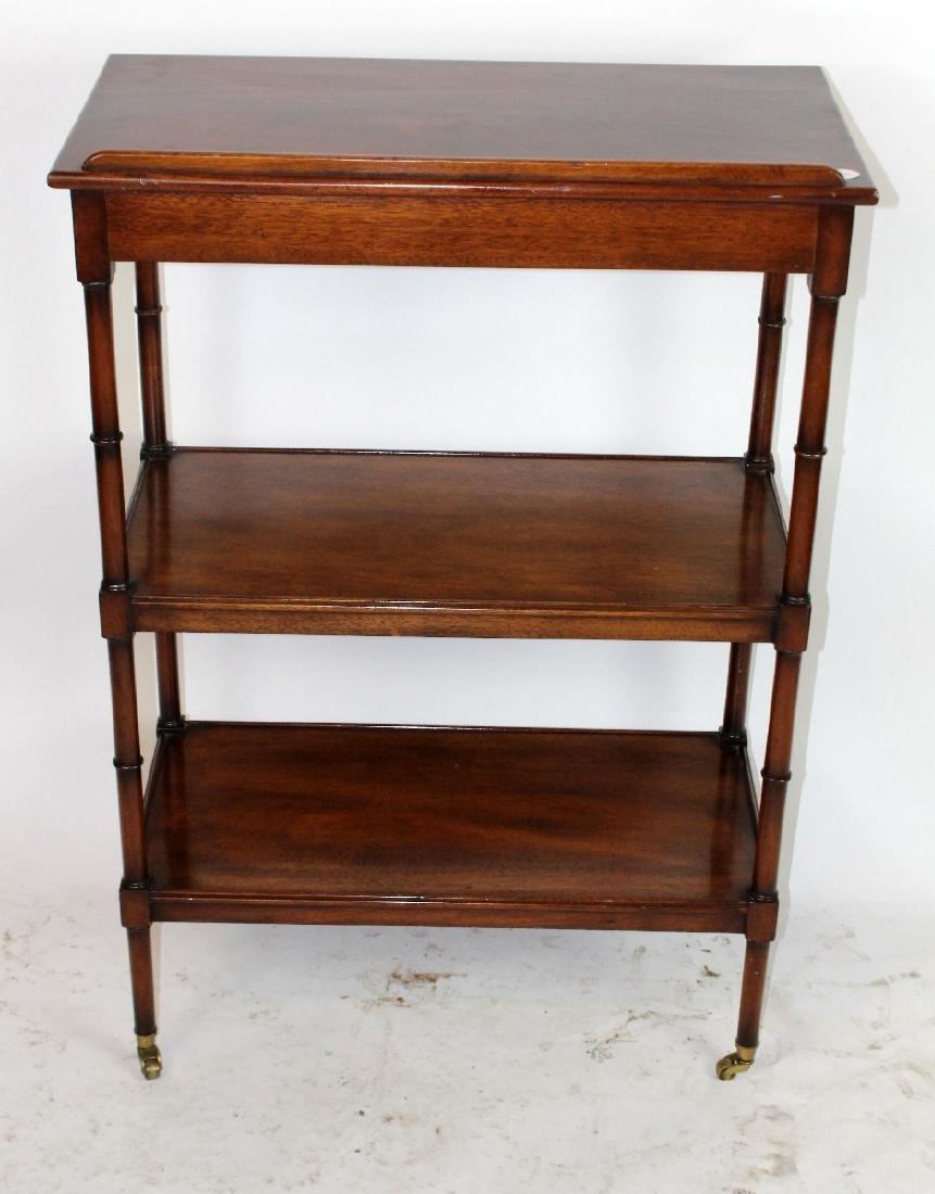 3-tier mahogany serving cart