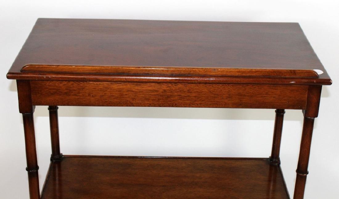 3-tier mahogany serving cart - 3