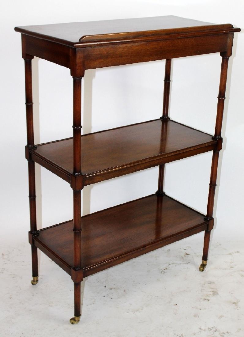 3-tier mahogany serving cart - 4