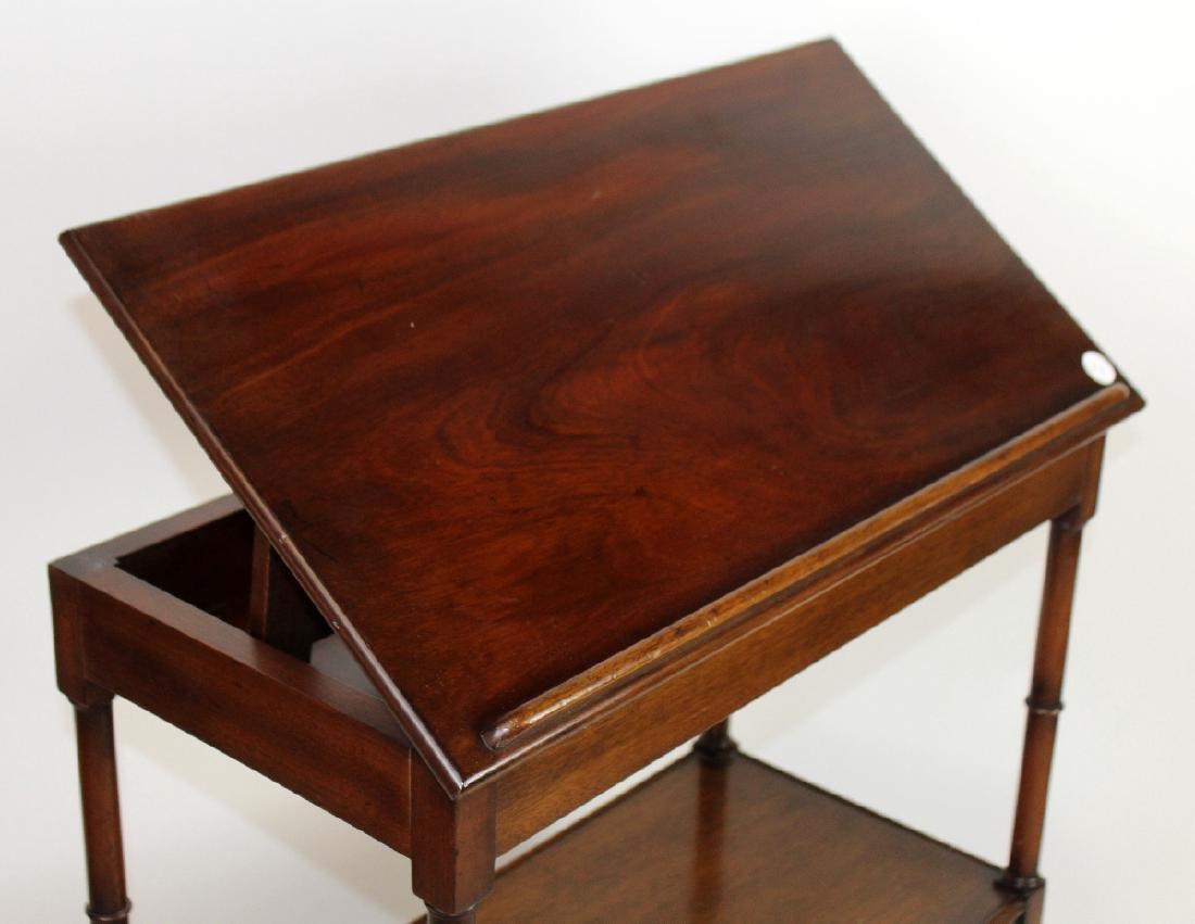 3-tier mahogany serving cart - 5