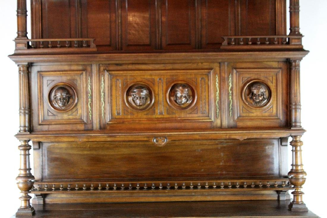 French Mannerist hooded buffet in walnut - 5