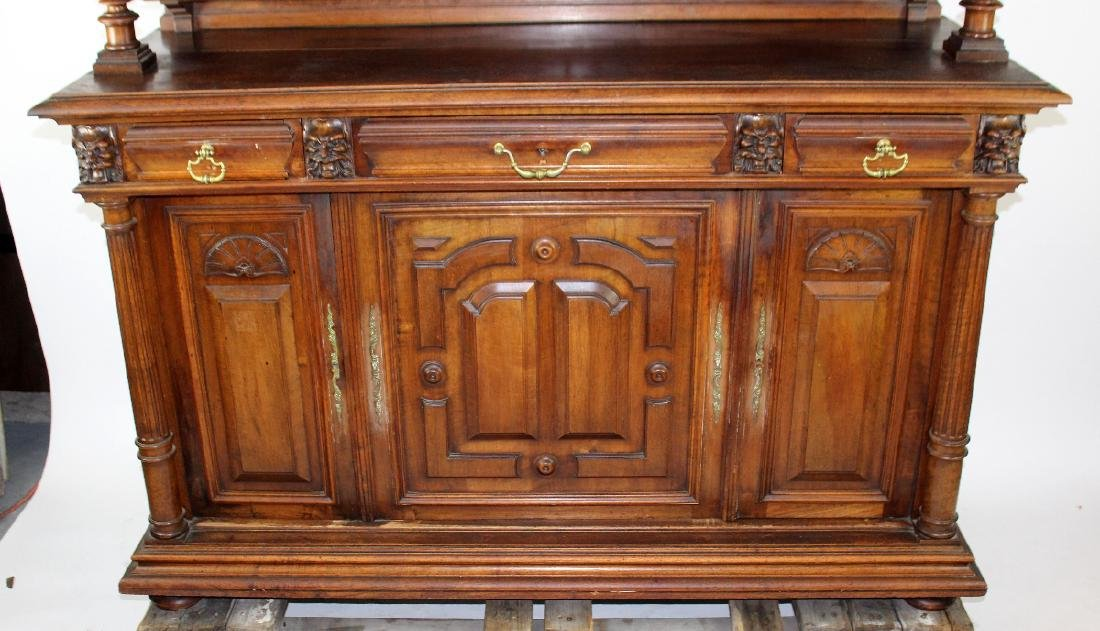 French Mannerist hooded buffet in walnut - 6