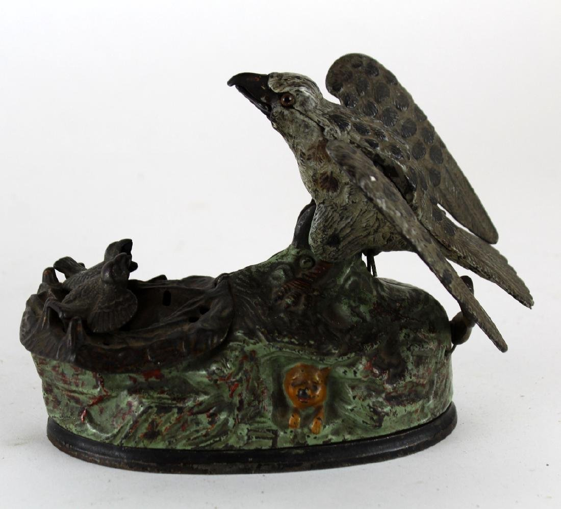 Mechanical coin op bank with birds - 4