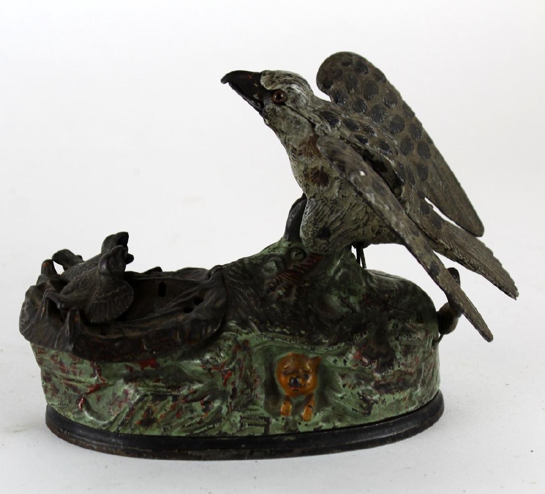 Mechanical coin op bank with birds - 4