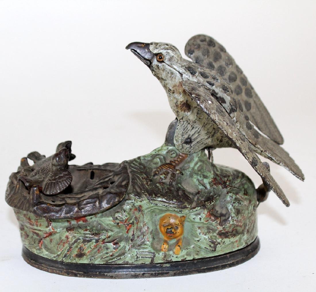 Mechanical coin op bank with birds - 5