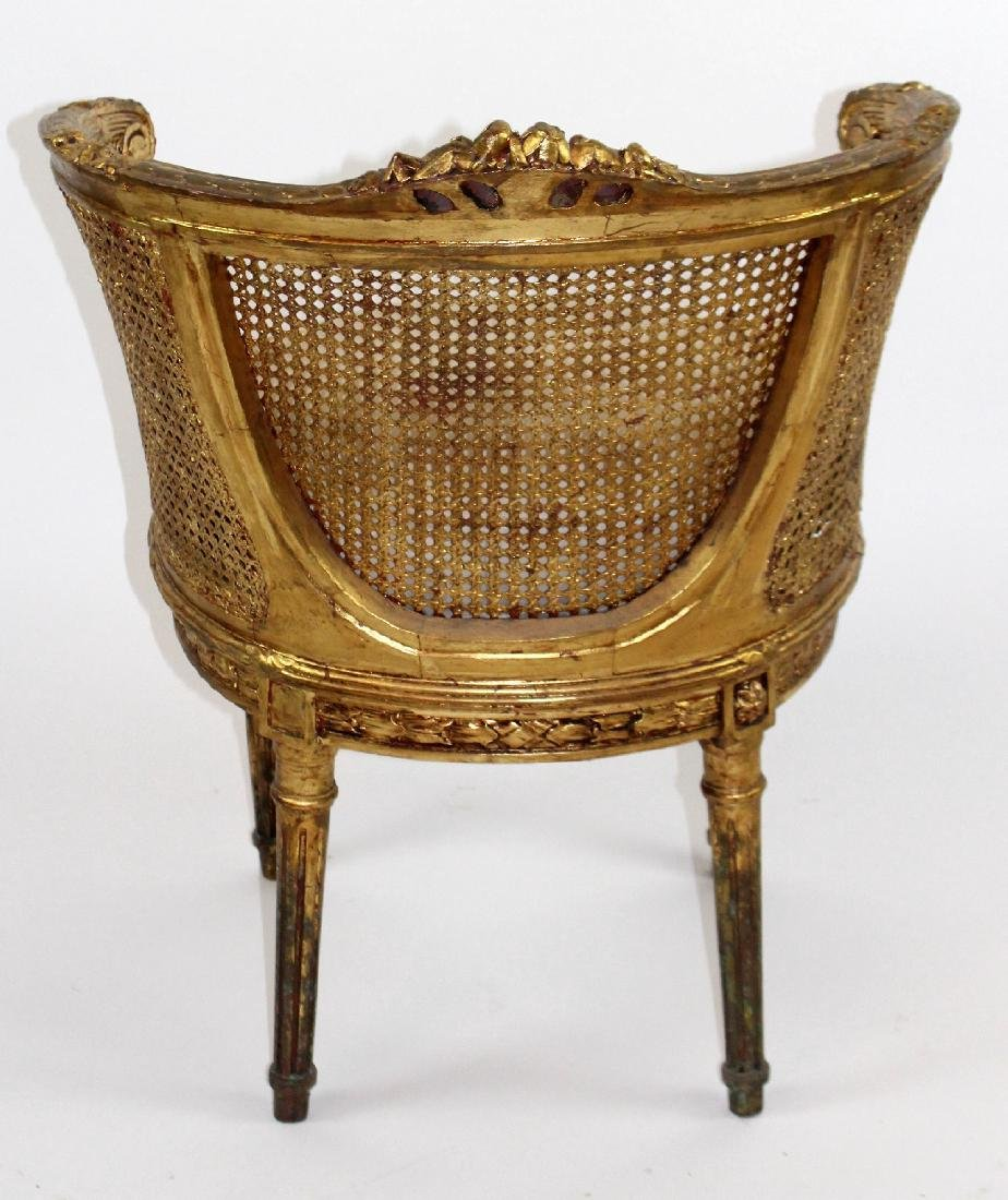 Pair of Louis XVI style barrel back chairs - 2