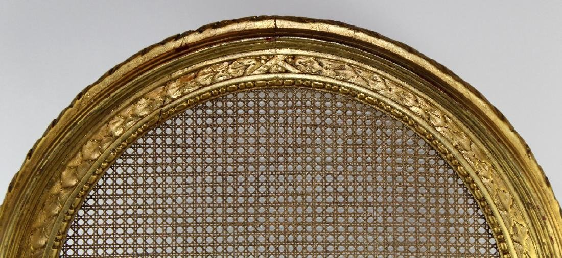 Louis XVI style caned firescreen - 2